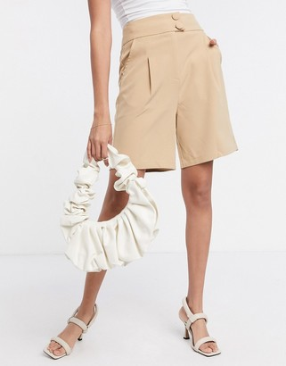 4th + Reckless tailored short in camel