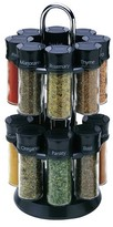 Olde Thompson 16 Jar Spice Rack - Black