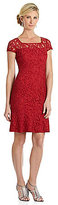 Adrianna Papell Lace Trumpet Skirt Dress