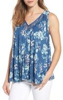Lucky Brand Women's Wildflower Lace Trim Tank