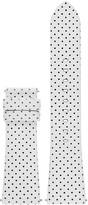 Michael Kors Access Bradshaw Leather Polka Dot Watch Strap, 22mm
