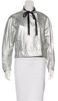 Pierre Balmain Metallic Leather Jacket