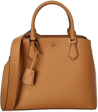 Tory Burch Robinson Triple Compartment Leather Tote