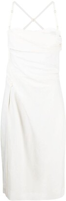 Jacquemus Ruched Midi Dress