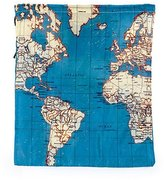 Kikkerland World Map Travel Bags Set of 4 Laundry Shoe Sundries Organiser