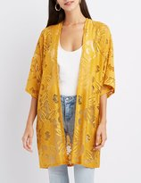 Charlotte Russe Floral Lace Kimono
