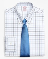 Brooks Brothers Stretch Madison Classic-Fit Dress Shirt, Non-Iron Poplin Button-Down Collar Double-Grid Check
