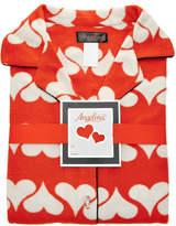 Angelina Orange Hearts Fleece Pajama Set