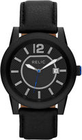 JCPenney RELIC Relic Payton Mens Black Leather Strap Watch