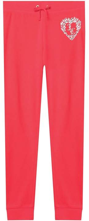 Juicy Couture Velour Encrusted Heart Zuma Pant for Girls
