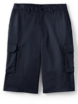 Lands' End Men's Stain Resistant Cargo Chino Shorts-Classic Navy