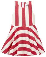 Milly Minis Stripped Cotton Flounce Dress (Toddler & Little Girls)