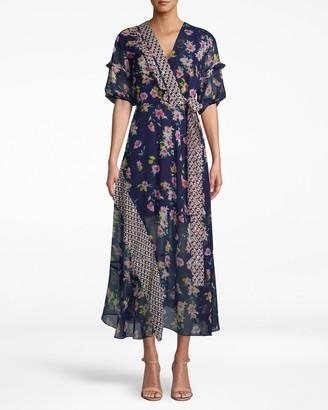 Nicole Miller Cosmo Flora Kimono Dress