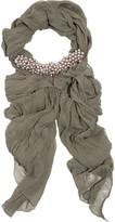 Donna Karan Beaded silk-chiffon scarf