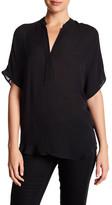 Acrobat Short Sleeve Dolman Silk Blouse