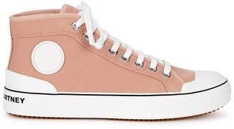 Stella McCartney Blush Canvas Hi-top Sneakers