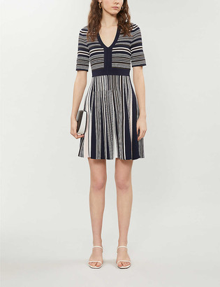 Ted Baker Meemeei skater stripe v-neck dress