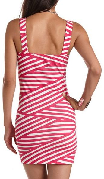 Charlotte Russe Zip-Front Body-Con Dress