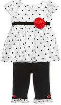 Sweet Heart Rose 2-Pc. Dot-Print Top & Leggings Set, Baby Girls (0-24 months)