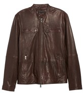 John Varvatos Men's Leather Racer Jacket