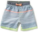 First Wave Little Boys 2T-7 Striped Swim Trunks