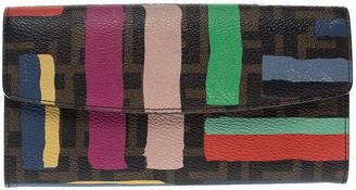 Fendi Multicolor Zucca Coated Canvas Wallet