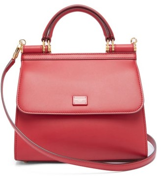 Dolce & Gabbana Sicily Small Leather Bag - Red