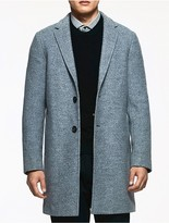 Calvin Klein Platinum Double Wool Tailored Coat