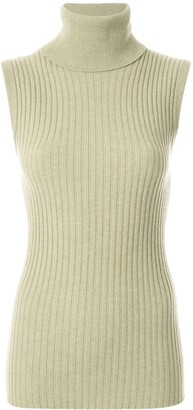 Chanel Pre Owned 1993 Ribbed Knitted Top