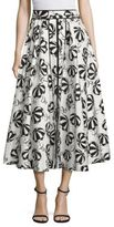 Carolina Herrera Printed Midi Skirt