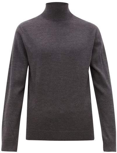 A.P.C. Glen Roll-neck Wool Jumper - Mens - Grey