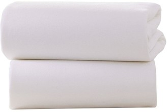 Clair De Lune Universal Bedside Fitted Crib Sheet - 2 Pack