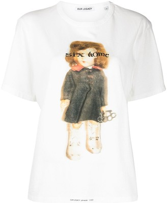 Our Legacy graphic-print cotton T-shirt