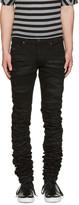 Diesel Black Gold Black Super Long Skinny Jeans