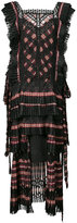 Zimmermann striped tiered dress