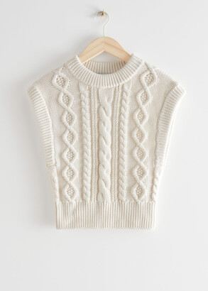 And other stories Fitted Cable Knit Vest