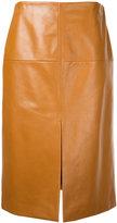 Lanvin leather midi skirt