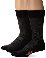 Dockers 3 Pack Cushion Dress - Ultimate Fit Houndstooth Crew Socks 10-13 Sock/6-12 Shoe