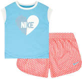 Nike Two-Piece Heart Tee and Printed Shorts Set