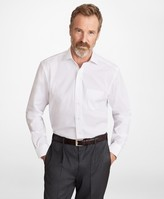 Brooks Brothers Madison Classic-Fit Dress Shirt, Performance Non-Iron with COOLMAX, Ainsley Collar Twill