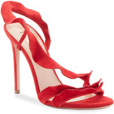 Aquazzura Ruffle Suede Sandals