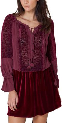 Hale Bob Blouson Silk Dress