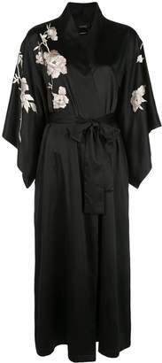 Natori embroidered charmeuse robe
