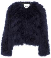 MSGM Cropped Fur Jacket