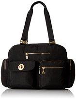 Baggallini Gold International Venice Laptop Black Shoulder Bag