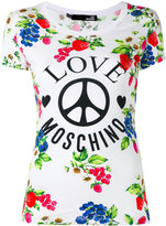 Love Moschino printed T-shirt - women - Cotton/Spandex/Elastane - 42