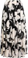 Calvin Klein pleated floral print skirt
