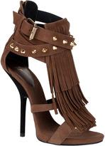 Giuseppe Zanotti Fringed studded suede sandal