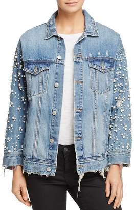 Sunset & Spring Embellished Denim Jacket - 100% Exclusive