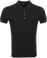Diesel T Heal Polo T Shirt Black